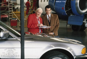 Still of Pierce Brosnan and Desmond Llewelyn in Tomorrow Never Dies ...