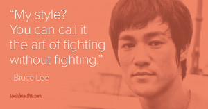 "Enter the dragon: ""The art of fighting without fighting"""