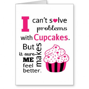 Cute Cupcake quote, Happiness Greeting Card