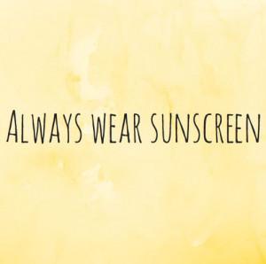 Always Wear #Sunscreen