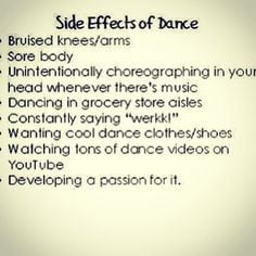 dancer problems but most of them i wouldn t really consider problems ...
