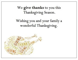 Thanksgiving Thank You Cards -