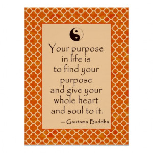 Buddha Quote on Purpose in Life Posters