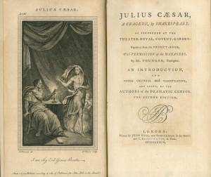 ... Caesar from an eighteenth-century, nine-volume set of Shakespeare's