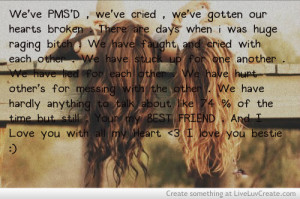 cute, girls, life, quote, quotes, your my best friend