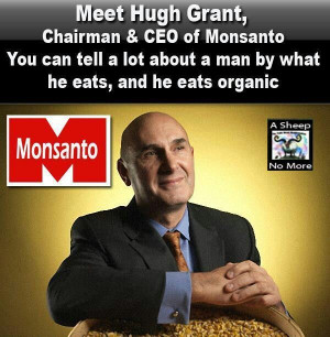 Hugh Grant,CEO MONSANTO EATS ORGANIC. Knows better than to eat the ...