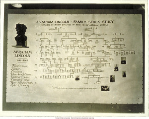 ... Lincoln: family-stock study,& 3rd International Eugenics Conference