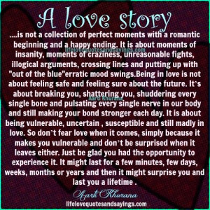 love story quotes and sayings