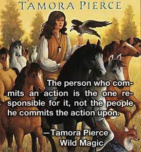 Quote: Tamora Pierce in Wild Magic — The Immortals Quartet