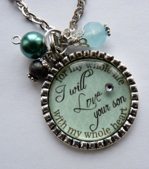 Mother of the Groom Gift, I will love your son with my whole heart for ...