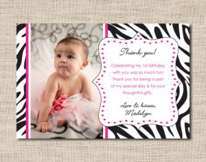 first birthday thank you card wording