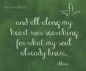 Soul searching ..