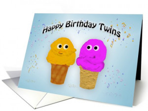 Happy Birthday Twins card (191916)