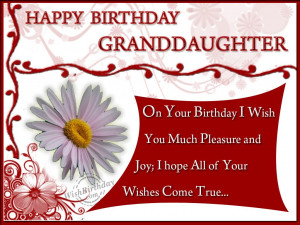 Birthday Wishes for Granddaughter - Birthday Cards, Greetings