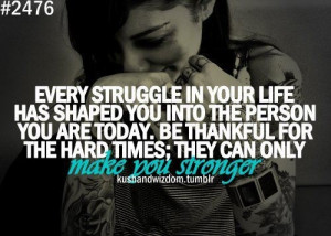 Struggles make you stronger!