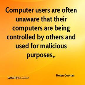 ... Are Being Controlled By Others And Used For Malicious Purposes