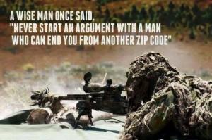 Sniper's Wisdom - Military humor