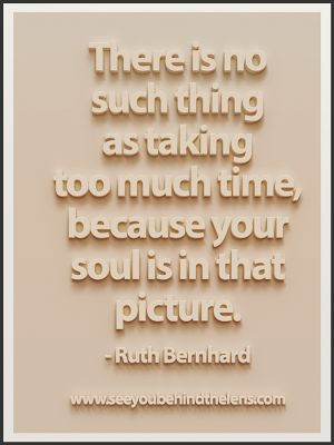 Ruth Bernhard Quote: Soul is in that picture... Via www ...