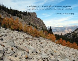 2014 Idaho Wilderness Calendar sample October quote