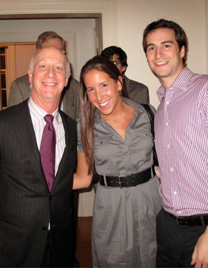 paul goldberger with his son alex and alex s girlfriend