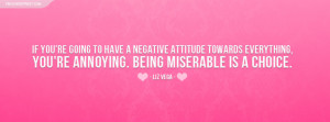 Liz Vega Negative Attitude Quote Picture