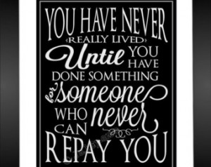 Lived - Thank You Gift INSTANT DOWNLOAD Printable Wall Art Quote ...