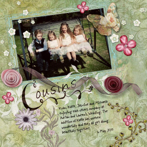The layout was created with my Floral Fancy Digital Scrapbook Kit