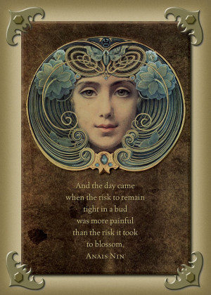 Anais Nin - Art Nouveau - Digital Card 5