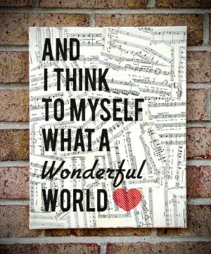 Wonderful world...