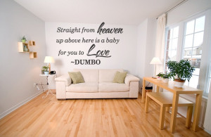 Disney Dumbo Quote Vinyl Wall Decal Nursery Heaven Baby Sticker Home ...