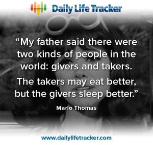 ... givers sleep better.
