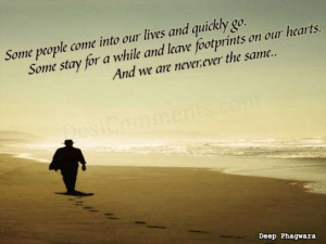 Love Quotes Wallpaper Footprints The Sand Poem