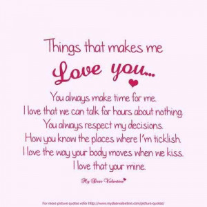 Love quotes for her from him for facebook