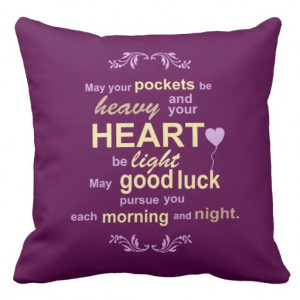 Irish Abundance Happiness and Good Luck Blessing Pillows from Zazzle ...
