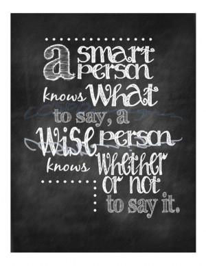 Smart/Wise Quote Print