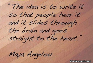 Quote: The idea is to write it so...
