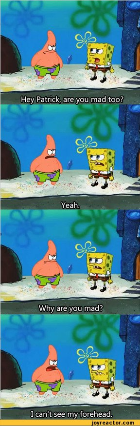 Hey Patrick Are You Mad Too / Sponge Bob Funny Pictures Forehead