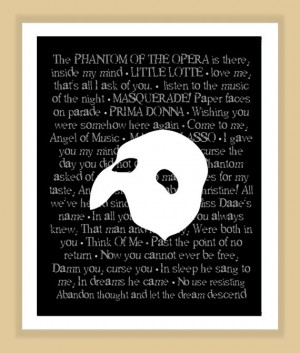 ... Quotes Queens, Music Quotes, Quotes Prints, Room, Phantom Of The Opera