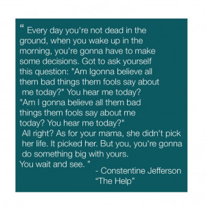 Constantine Jefferson -The Help