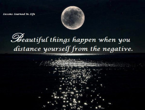 """... : """"Positive thinking Quote, Beautiful things happen"""" plus 1 more"""
