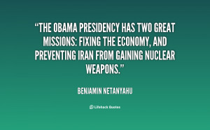 The Obama presidency has two great missions: fixing the economy, and ...