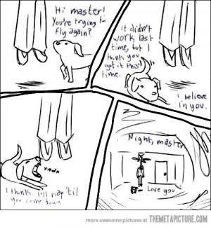 Funny photos sad comic dog owner hanged