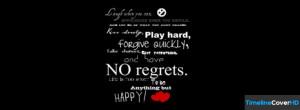No Regrets Facebook Cover