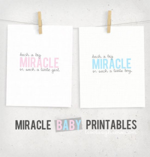 Miracle Baby Printables with livelaughrowe.com
