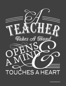 Teacher Appreciation Quote to Print andFrame Free Printable