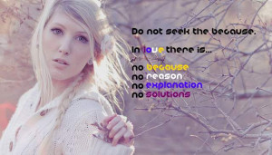 No Because No Reason Picture Quote - MLQuotes