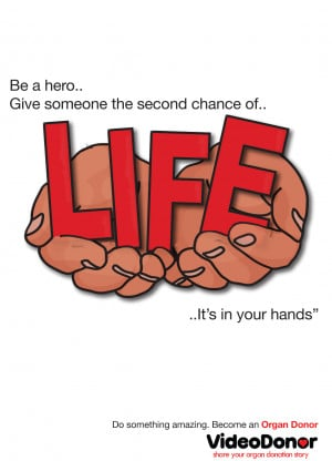 ... Person Can Save 8 Lifes Organ Donation Awareness Poster By Jane Coutts