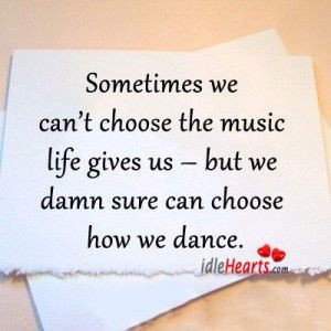 How we choose to dance..