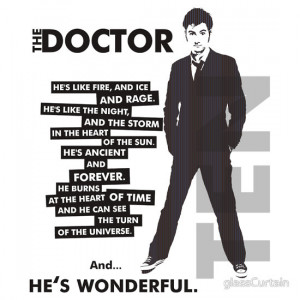 TShirtGifter presents: Doctor Who - ...he's wonderful (variant 2)