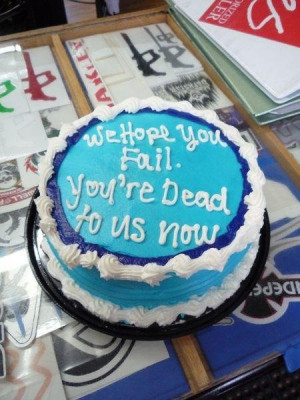 Co-Worker Goodbye Cake - Funny Pictures - Funny Photos - Funny ...